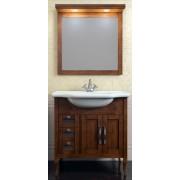Комплект мебели для ванной комнаты МИРАЖ 80 (светлый орех) Opadiris
