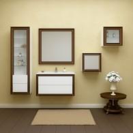 Комплект мебели для ванной комнаты Капри 80 (белый глянец, нагал) Opadiris
