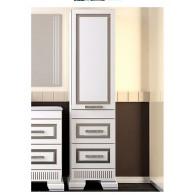 Пенал для ванной комнаты ОНИКС 45 L/R (серебро) Opadiris