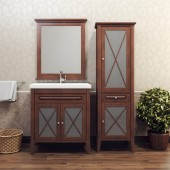 Комплект мебели для ванной комнаты Палермо 75 (светый орех) Opadiris