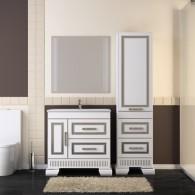 Комплект мебели для ванной комнаты ОНИКС 80 (серебро) Opadiris