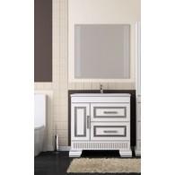 Комплект мебели для ванной комнаты ОНИКС 100 (серебро) Opadiris