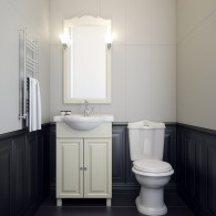 Комплект мебели для ванной комнаты Атрия 55 Opadiris (слоновая кость)