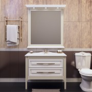 Комплект мебели для ванной комнаты Корлеоне 80 Opadiris (слоновая кость с патиной)
