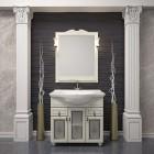 Комплект мебели для ванной комнаты ТИБЕТ 70 Opadiris (орех белый) витраж