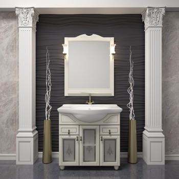 Комплект мебели для ванной комнаты ТИБЕТ 75 Opadiris (слоновая кость)