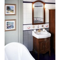 Комплект мебели для ванной комнаты ЛОРЕНЦО 60 (светлый орех) Opadiris