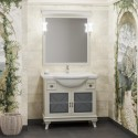 Комплект мебели для ванной комнаты БОРДЖИ 85 (массив бука) слоновая кость
