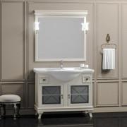 Комплект мебели для ванной комнаты БОРДЖИ 105 (массив бука) слоновая кость