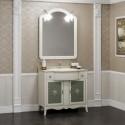 Комплект мебели для ванной комнаты ВИКТОРИЯ 90 Opadiris (массив бука, мрамор) слоновая кость
