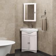 Комплект мебели для ванной комнаты Клио 45 угловой правый/левый Opadiris (орех белый)