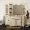 Комплект мебели для ванной комнаты КОРСО ОРО № 6 (слоновая кость) Opadiris