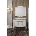 Комплект мебели для ванной комнаты ЛАУРА 100 белый без патины Opadiris (столешница натуральный мрамор)