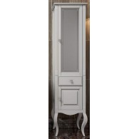 Пенал для ванной комнаты ЛАУРА 44 белый без патины (левый/правый)