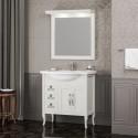Комплект мебели для ванной комнаты МИРАЖ 80 (слоновая кость) Opadiris