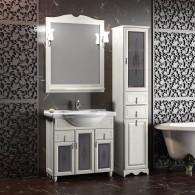 Комплект мебели для ванной комнаты ТИБЕТ 85 Opadiris (орех белый) витраж