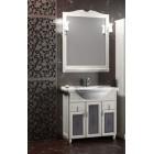 Комплект мебели для ванной комнаты ТИБЕТ 80 Opadiris (орех белый) витраж