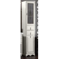 Пенал для ванной комнаты ТИБЕТ 40 L/R (орех белый) Opadiris витраж