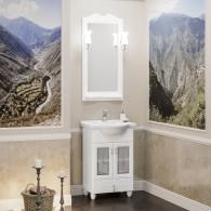 Комплект мебели для ванной комнаты ТИБЕТ 50 Opadiris (белый матовый) витраж