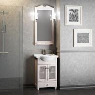 Комплект мебели для ванной комнаты ТИБЕТ 50 Opadiris (белый матовый) решетка