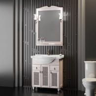 Комплект мебели для ванной комнаты ТИБЕТ 75 Opadiris (орех белый) решетка