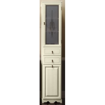 Пенал для ванной комнаты ТИБЕТ 40 L/R (слоновая кость) Opadiris витраж