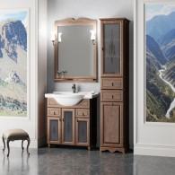 Комплект мебели для ванной комнаты ТИБЕТ 75 Opadiris (орех антикварный) витраж
