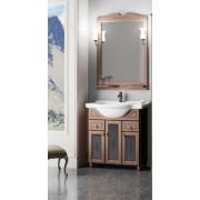 Комплект мебели для ванной комнаты ТИБЕТ 70 Opadiris (орех антикварный) витраж