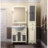 Комплект мебели для ванной комнаты ТИБЕТ 75 Opadiris (слоновая кость) витраж