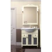 Комплект мебели для ванной комнаты ТИБЕТ 80 Opadiris (слоновая кость) витраж