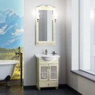 Комплект мебели для ванной комнаты ТИБЕТ 50 Opadiris (слоновая кость) витраж