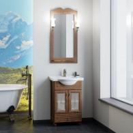 Комплект мебели для ванной комнаты ТИБЕТ 55 Opadiris (орех антикварный) витраж