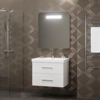 Комплект мебели для ванной комнаты Арабеско 80 SMILE (белый)