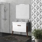 Комплект мебели для ванной комнаты Зафирро 95 SMILE (белый)