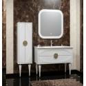 Комплект мебели для ванной комнаты Ибица 90 SMILE (белый /золото)