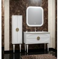 Комплект мебели для ванной комнаты Ибица 120 SMILE (белый /золото)