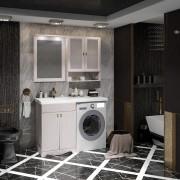Комплект мебели для ванной комнаты КЛИО 56 под стиральную машину Opadiris (белёный бук)