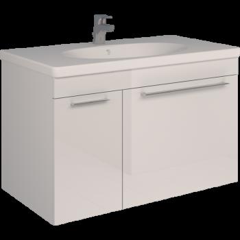 Тумба SCORZA Laconica 90 1 ящик и 1 дверь с раковиной Gustavsberg (L)