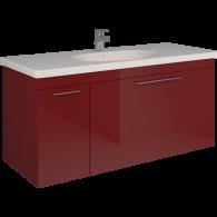 Тумба SCORZA Laconica 120 1 ящик и 1 дверь с раковиной Gustavsberg (L)