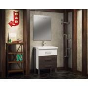 Комплект мебели для ванной комнаты Боско 70 SMILE (белый/винтаж)