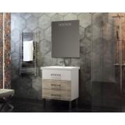 Комплект мебели для ванной комнаты Боско 70 SMILE (белый/орегано)