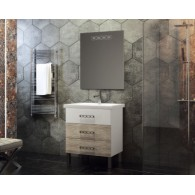 Комплект мебели для ванной комнаты Боско 60 SMILE (белый/орегано)