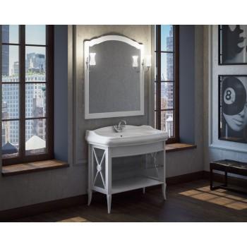Комплект мебели для ванной комнаты Империал 100 SMILE (белый)