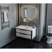 Комплект мебели Smile Риголетто 90 (белый/орех)