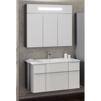 Комплект мебели Smile Кристалл 90 титан/белый
