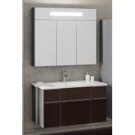 Комплект мебели Smile Кристалл 90 титан/коричневый