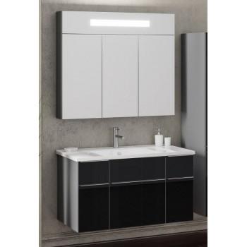 Комплект мебели Smile Кристалл 90 титан/чёрный