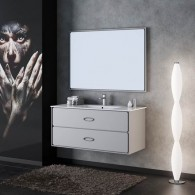 Комплект мебели для ванной комнаты Smile Монтэ 120 светло-серый