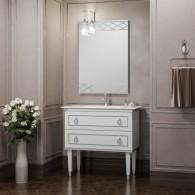 Комплект мебели Smile Порто 100 белый/хром