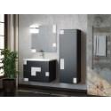 Комплект мебели для ванной комнаты Smile Санторини 100 (серый/белый)